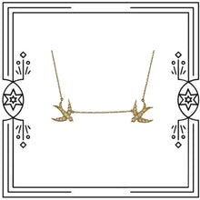 Load image into Gallery viewer, LOVE BIRDS DIAMOND NECKLACE