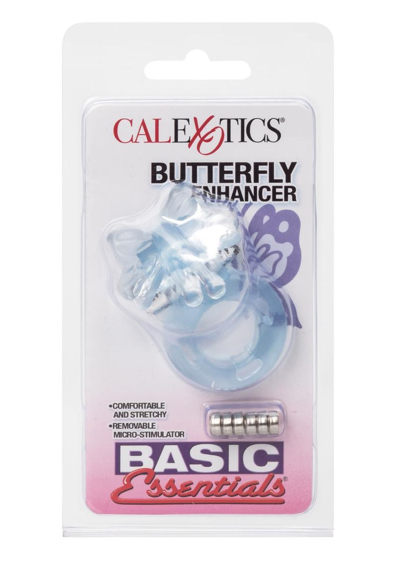 Basic Essentials Butterfly Enhancer With Removable Stimulator Pink