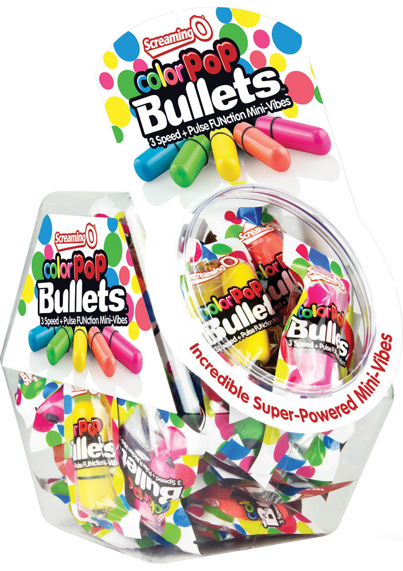 Color Pop Bullets Waterproof Assorted Colors 40 Each Per Bowl