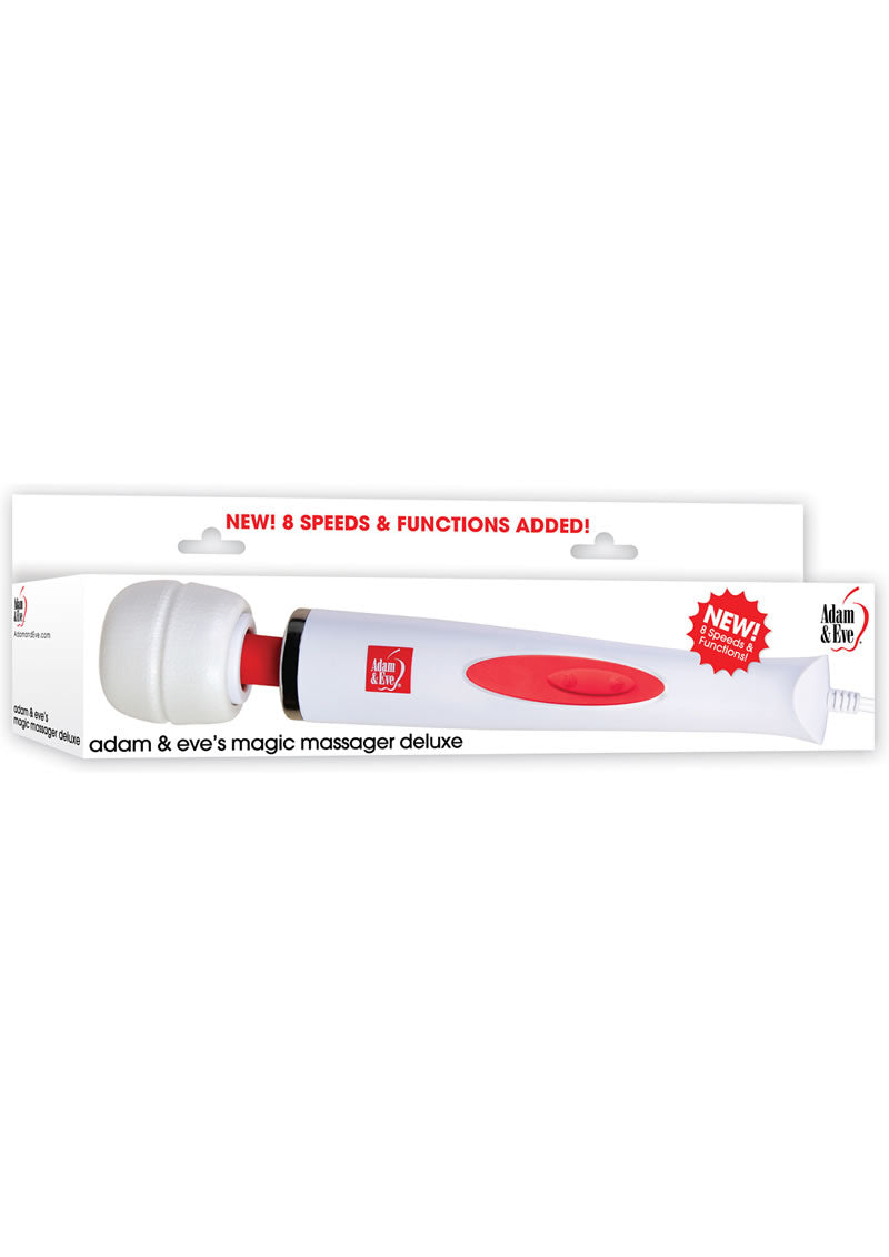Adam & Eve Magic Massager Deluxe White/Red