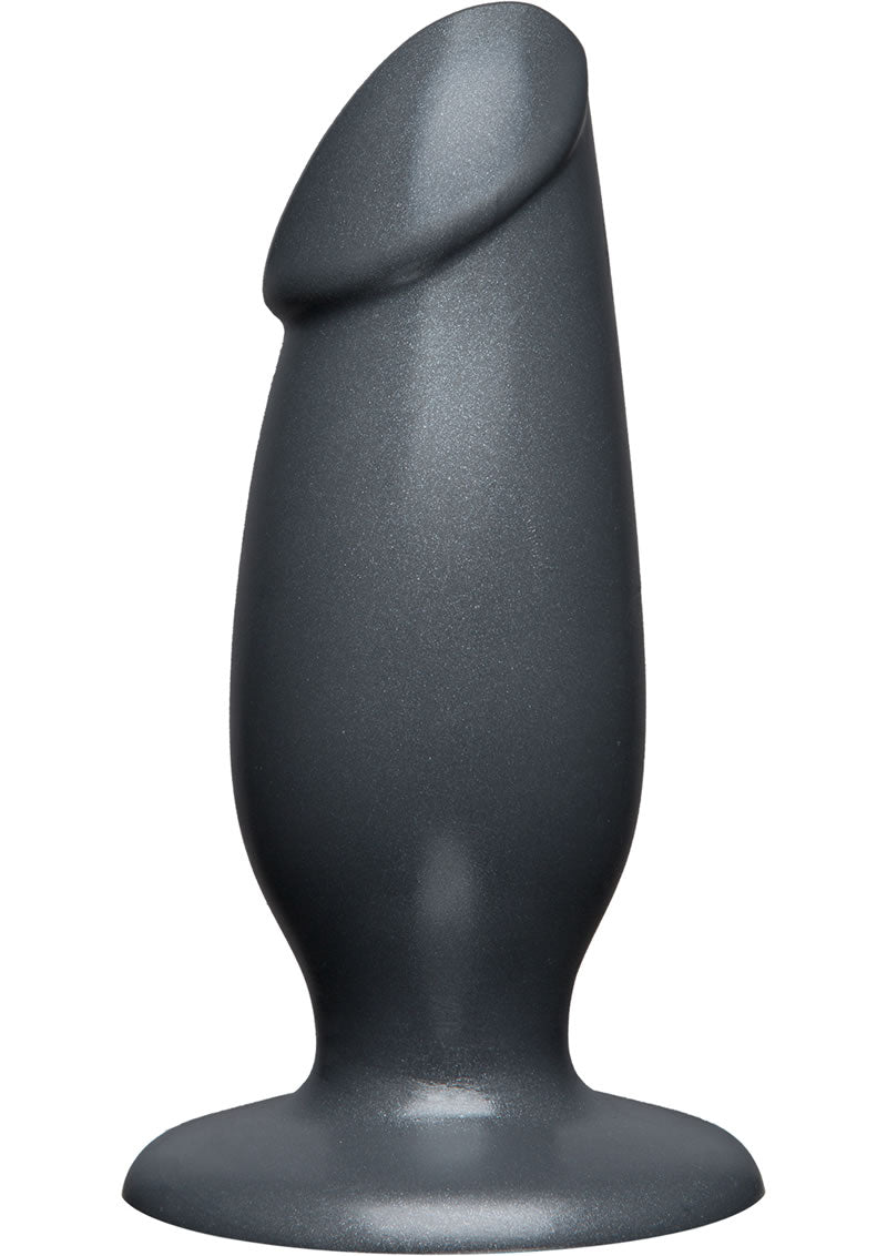 American Bombshell Fat Man Dildo 7In - Gun Metal