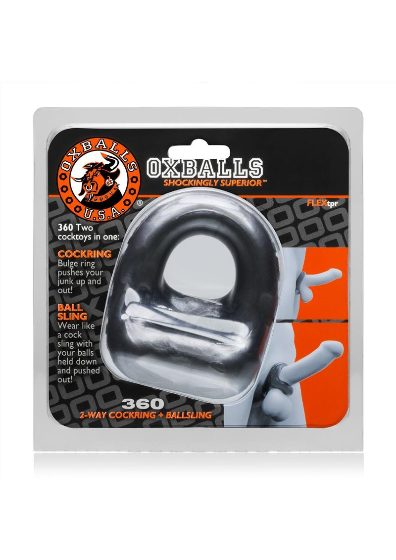 Oxballs 360 2-Way Cock Ring And Ball Sling - Silver