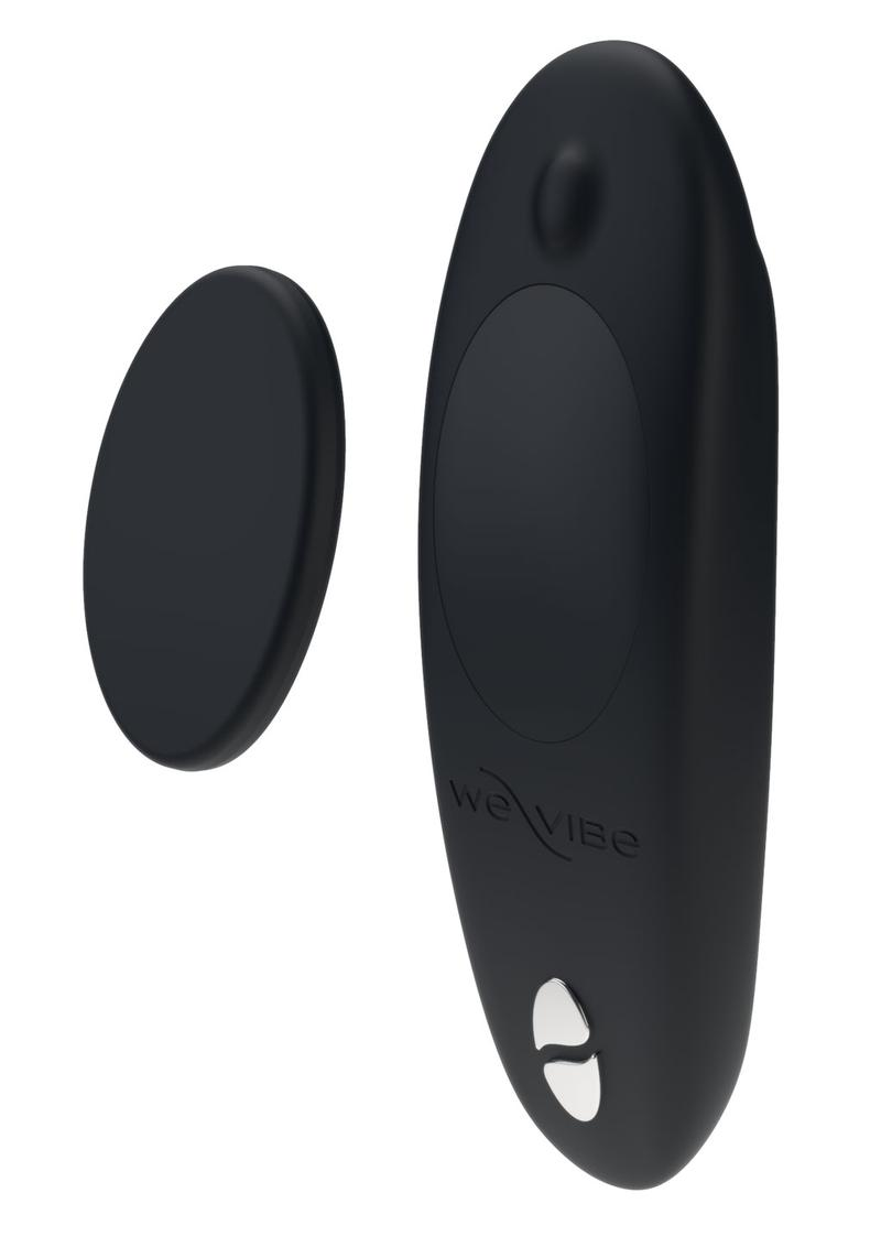 We-Vibe Moxie Silicone Rechargeable Wearable Vibrator With Remote Control - Black