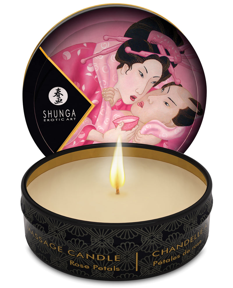Shunga Aphrodisia Mini Candlelight Massage Candle - 1 oz Roses