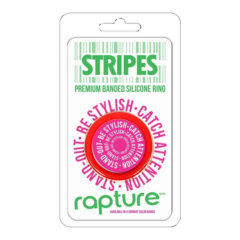 Stripes Premium Banded Silicone Cockring