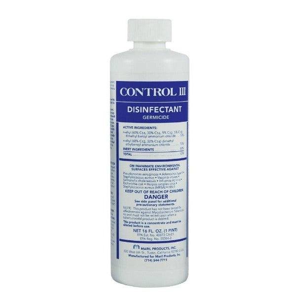 Control III Mask & Tubing Disinfectant Cleaner