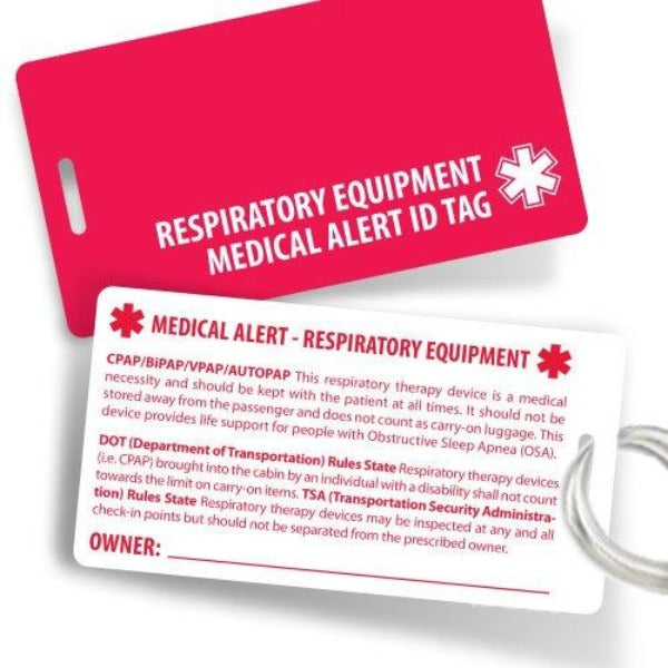 Heavy Duty Respiratory Equipment Medical Alert Luggage Tags