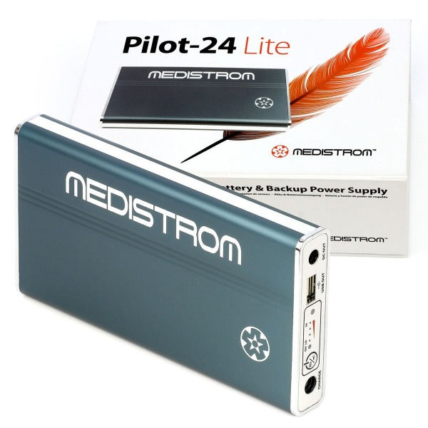 Medistrom Pilot-24 Lite Battery and Backup Power Supply for 24V PAP Devices.