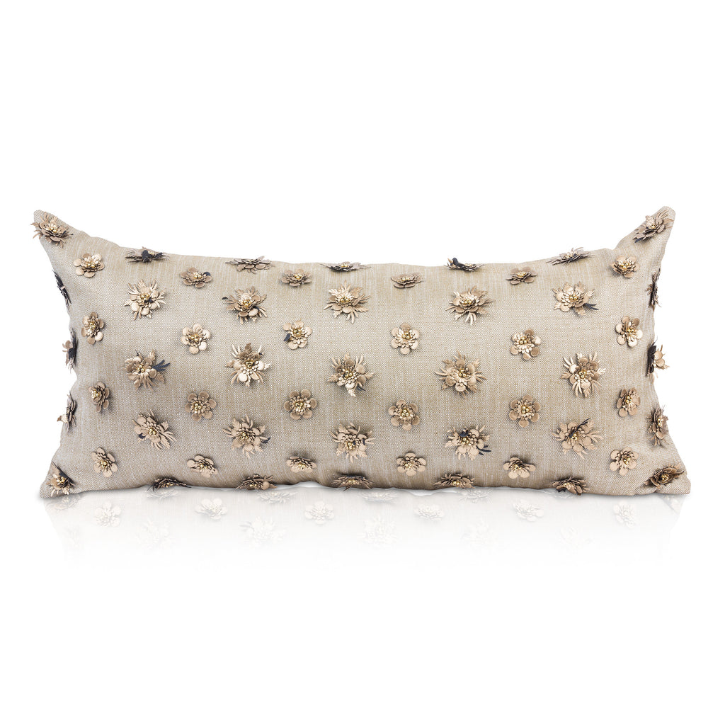KALIYANN, Gold Lumbar Pillow