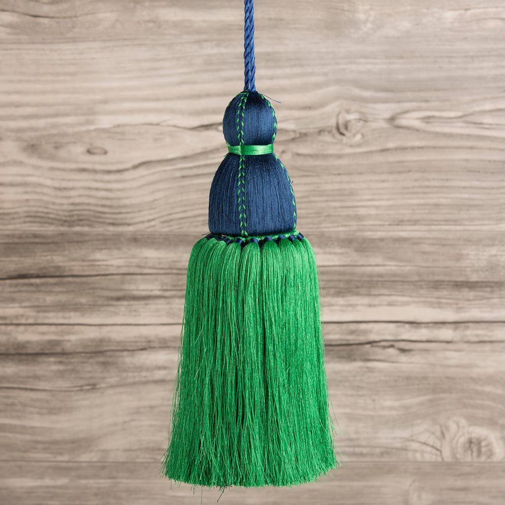 Navy & Green Tassel, Trellis Home Tassels & Trims Collection with Pyar&Co.