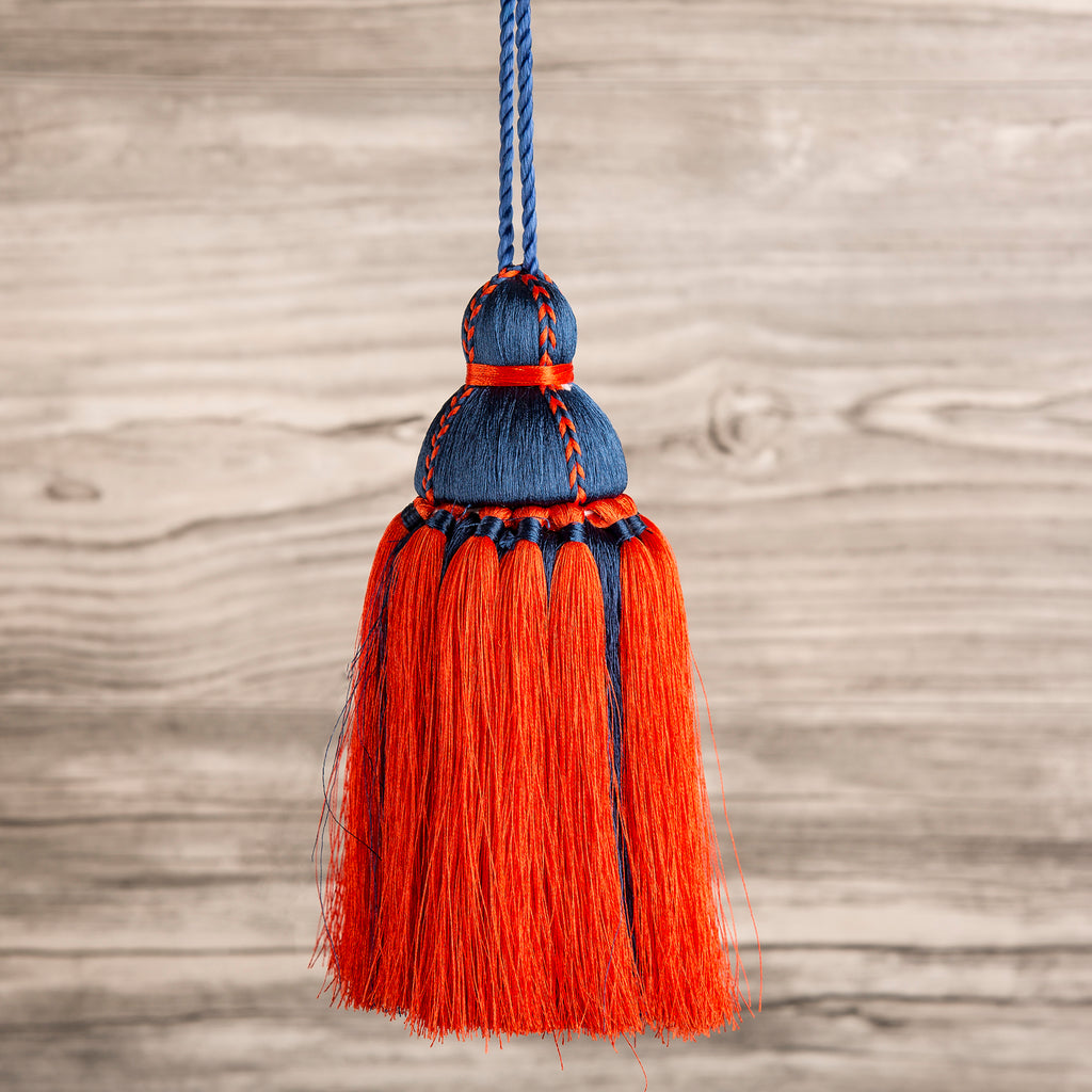 Navy & Deep Orange Tassel, Trellis Home Tassels & Trims Collection with Pyar&Co.