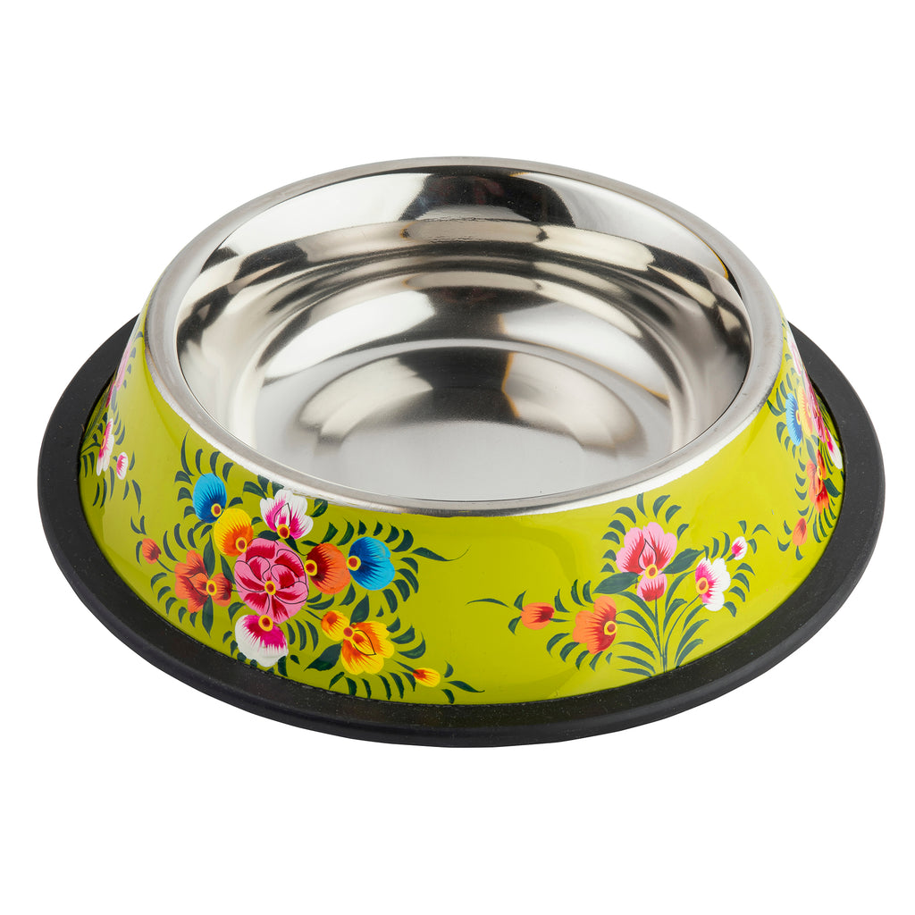Lime Green Stainless Steel Bowl