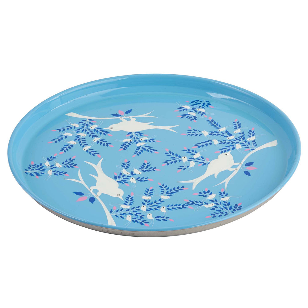 Light Blue Blossom & Bird  Serving Platter