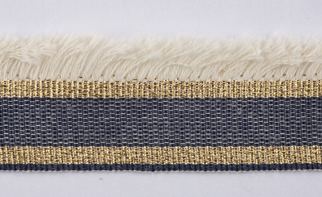 Ragi Trim, Navy, Ivory, Gold