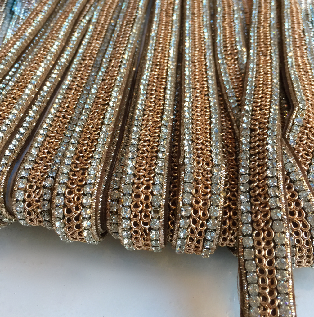 Aarya Rose Gold Metal Trim
