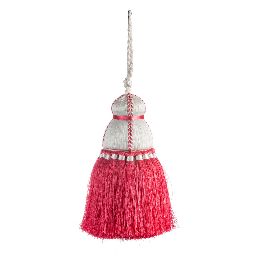 Coral & White Tassel, Trellis Home Tassels & Trims Collection with Pyar&Co.