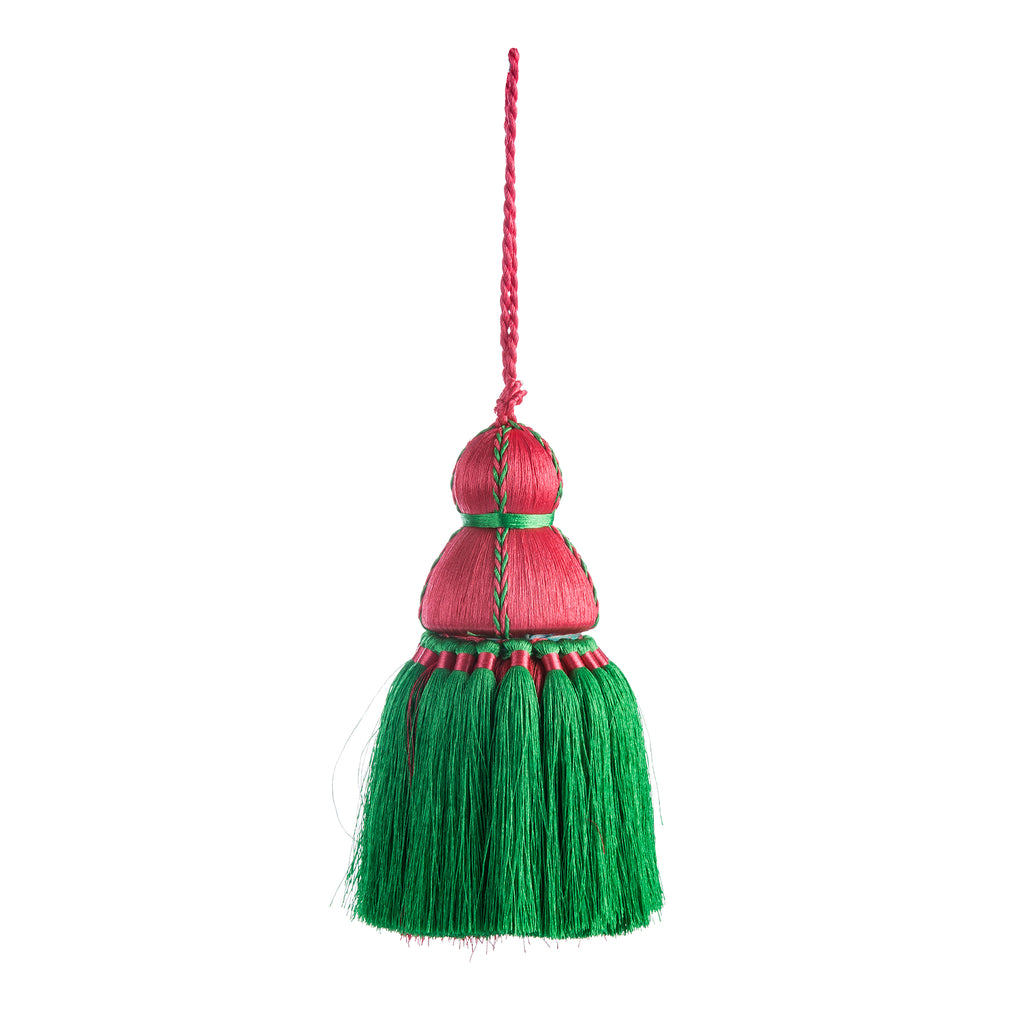 Medium Pink & Green Tassel, Trellis Home Tassels & Trims Collection with Pyar&Co.