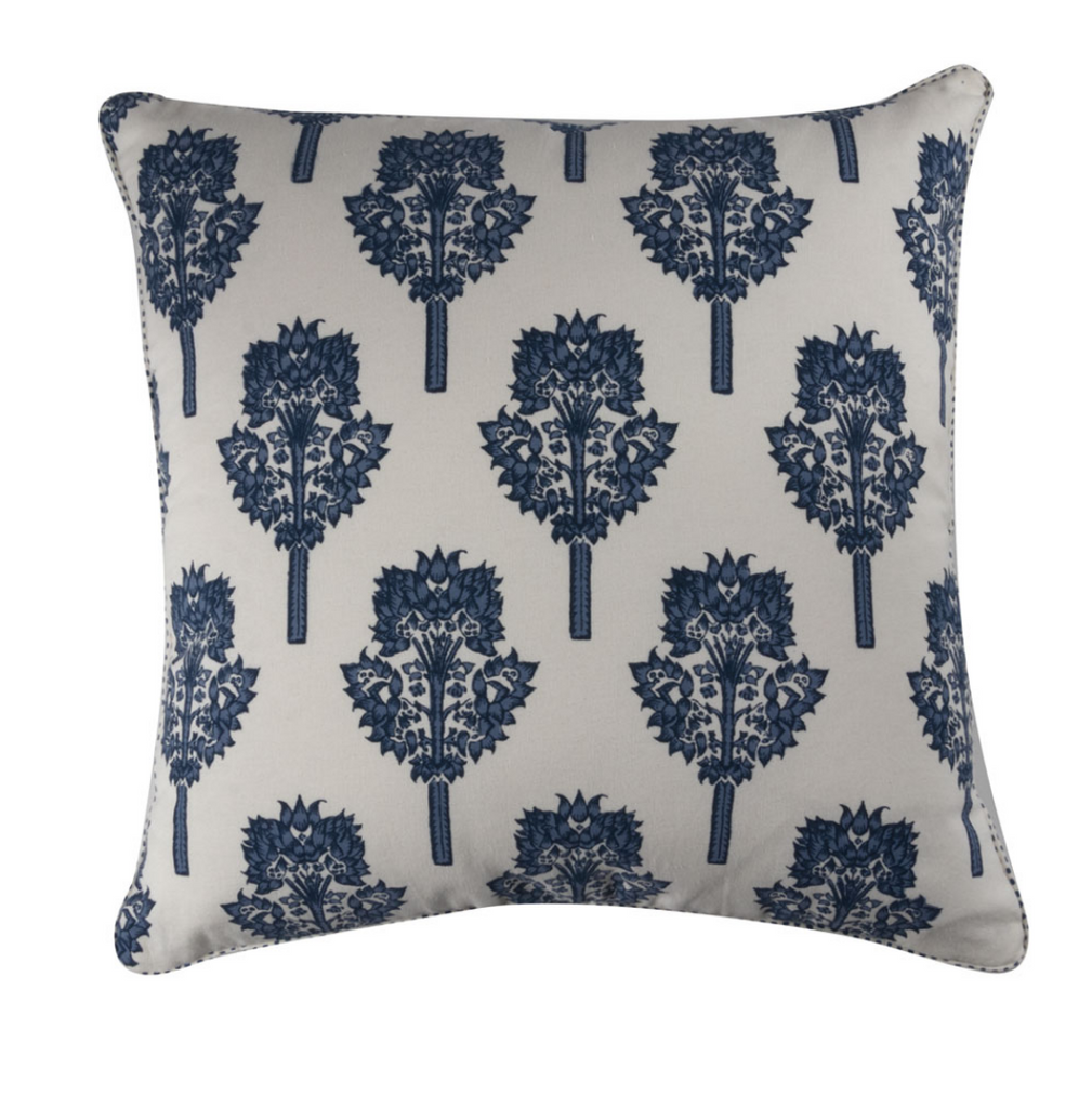 Indigo Blue Tamra Pillow Cover, Summer Snow Collection