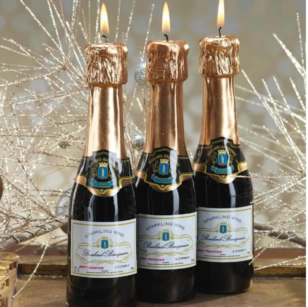 Mini Champagne Bottle Candle