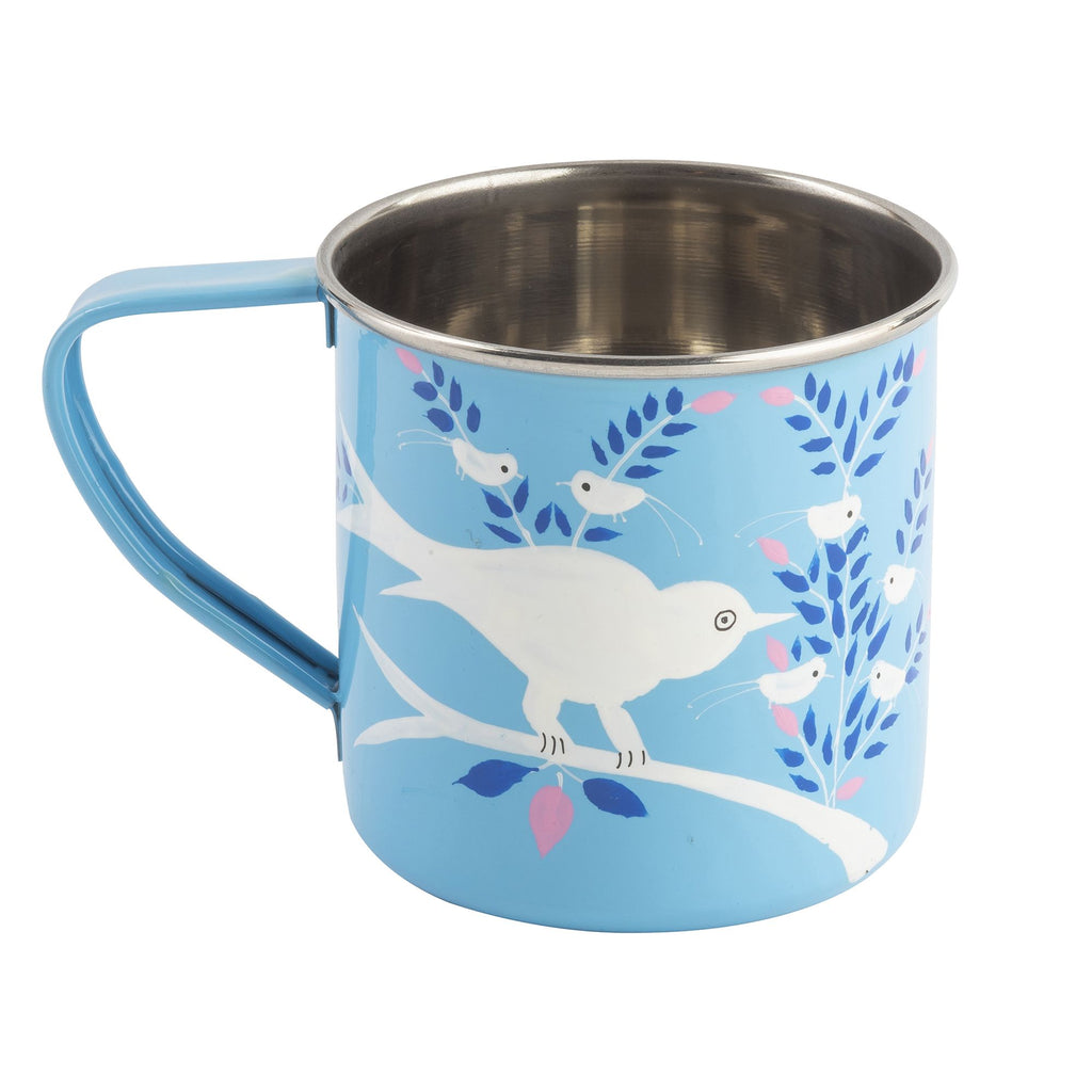 Light Blue Blossom & Bird Mug