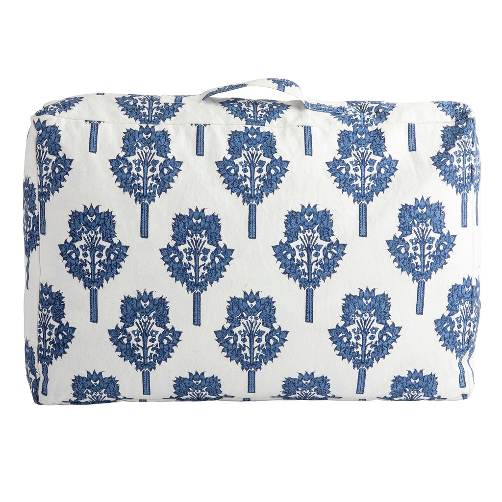 Indigo Blue Tamra Reversible Quilt, Summer Snow Collection