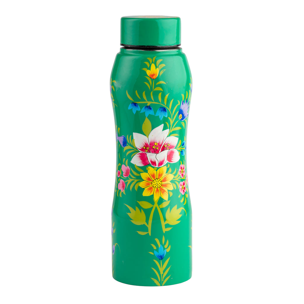 Green Blossom & Bird Water Bottle