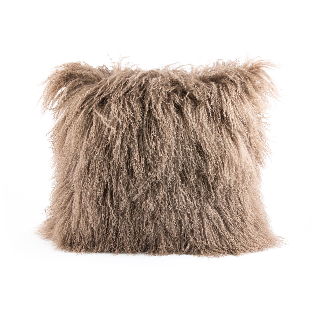 Pyar&Co. MONGOLIAN FUR PILLOW, CAMEL