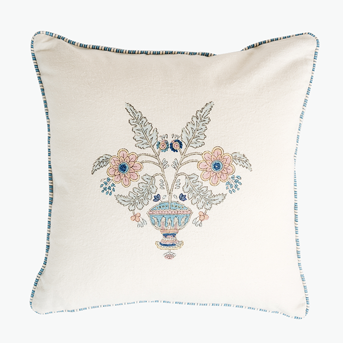 Buta Pillow Cover, Aqua