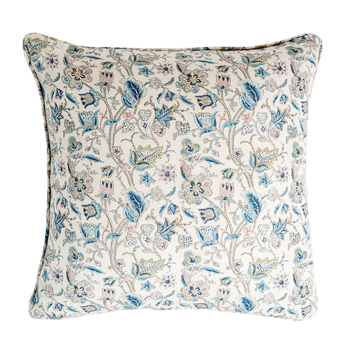 Aqua & Blush Noor Pillow Cover Guldasta Collection