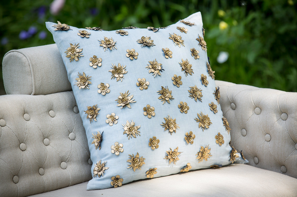 Pyar&Co. KALIYANN Pillow in chambray blue