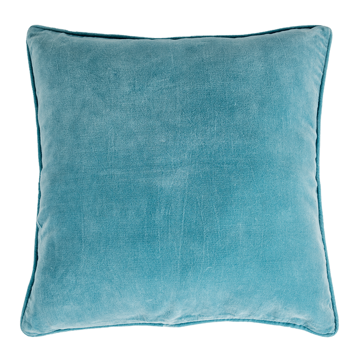 Light Blue Velvet Pillow Cover