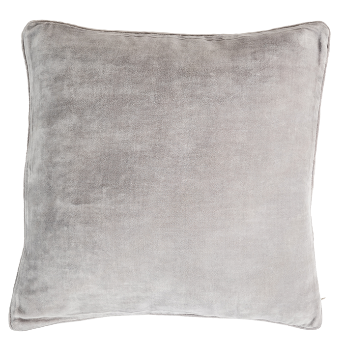 Light Grey Velvet Pillow Cover