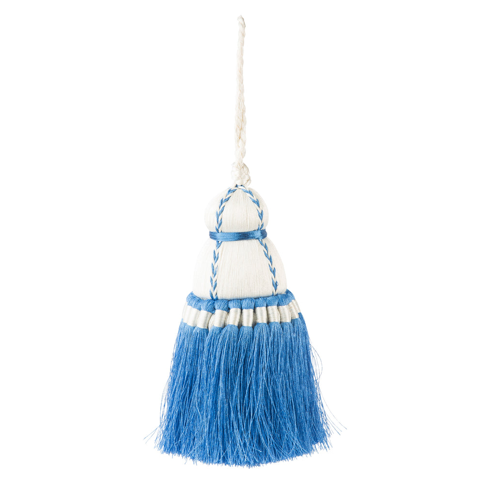 French Blue & White Tassel, Trellis Home Tassels & Trims Collection with Pyar&Co.