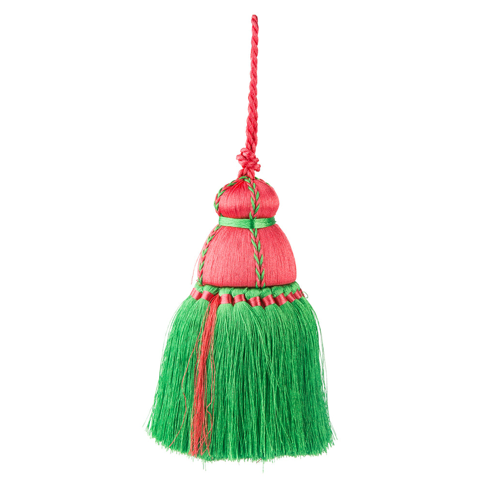 SMALL Pink & Green Tassel, Trellis Home Tassels & Trims Collection with Pyar&Co.