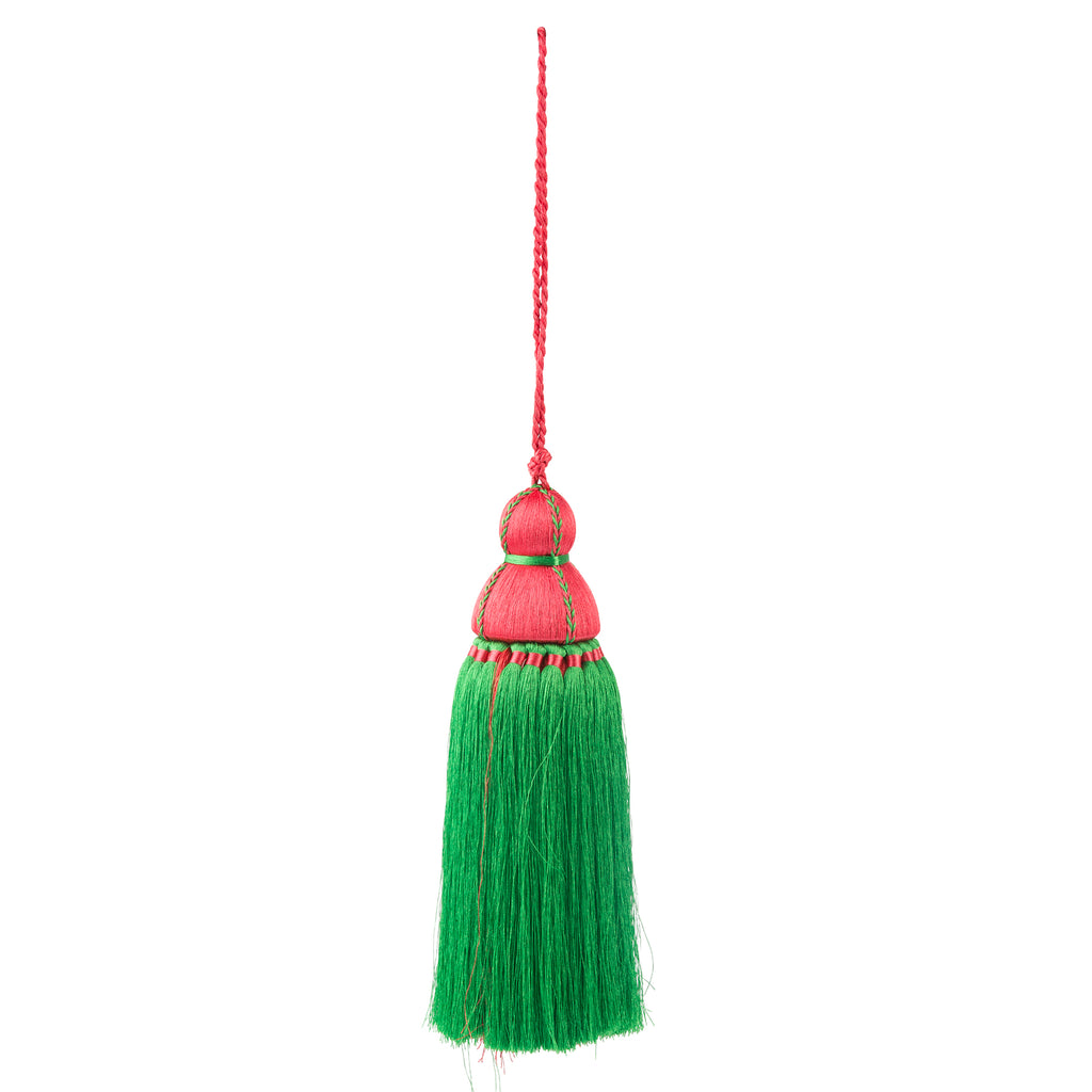Large Pink & Green Tassel, Trellis Home Tassels & Trims Collection with Pyar&Co.