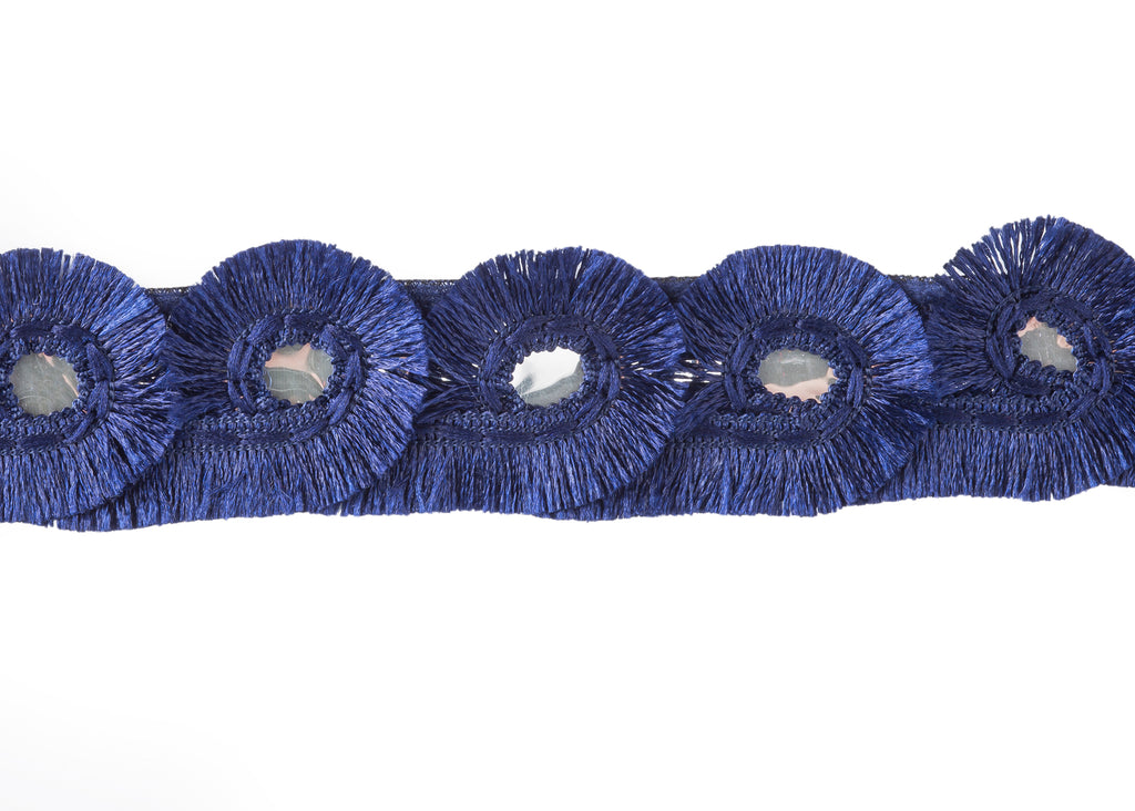 Indigo Blue Eyelash Trim