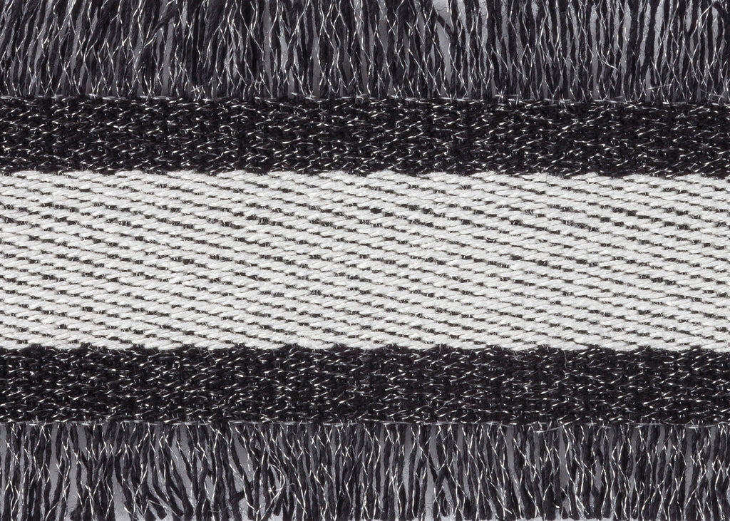 Black & Silver Stripe Eyelash Trim