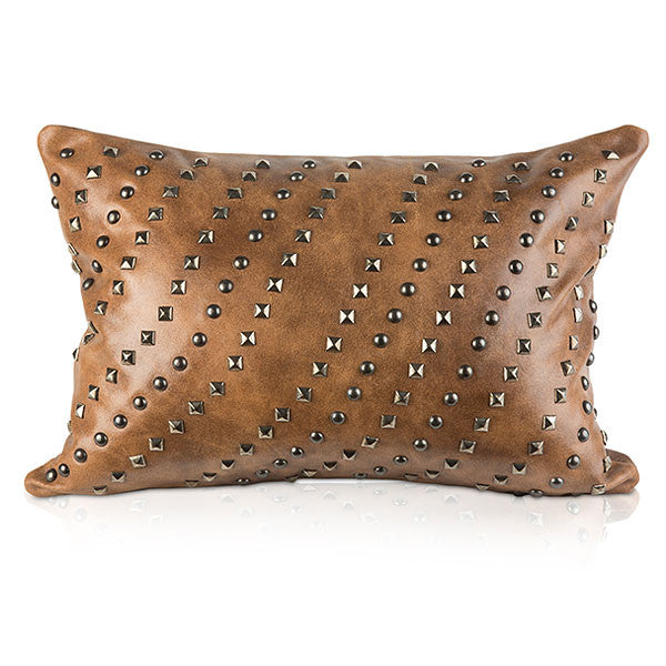 Pyar&CO. Distressed Brown TARAK Lumbar Pillow Cover