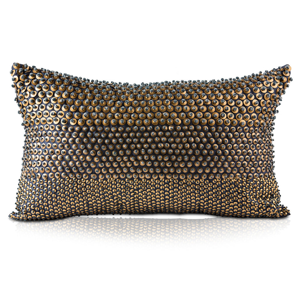 Pyar&Co. TARI Pillow, Navy; Lumbar