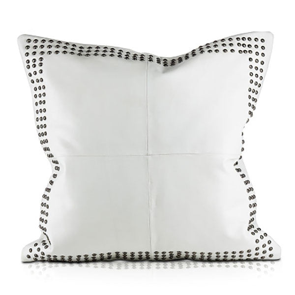 DOHNI, White Leather Pillow