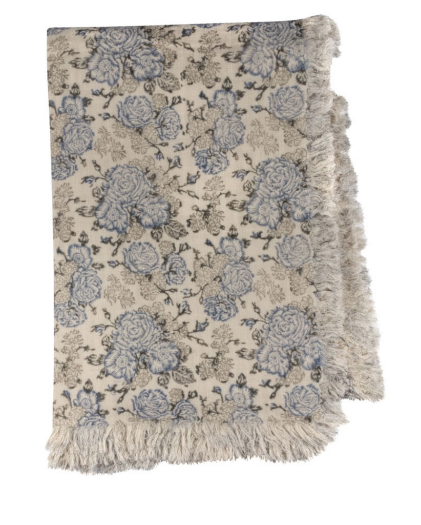 Light Blue & Gray Summer Snow Throw