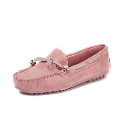 Genuine Leather Butterfly-knot Slip-on Flats