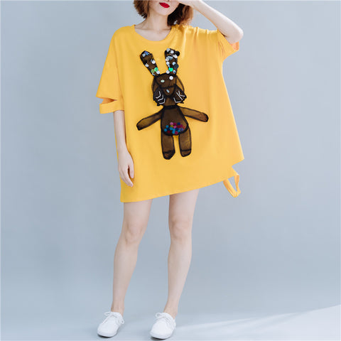 Loose Comfortable Rabbits Long T-shirt