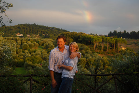 My husband Skip and I in Italy last summer.