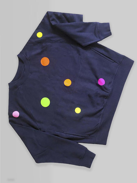 DANDY STAR NEO DOT SWEATSHIRT NAVY