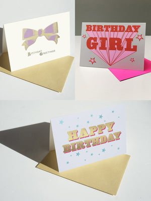 BIRTHDAY BOX SET X 6 CARDS