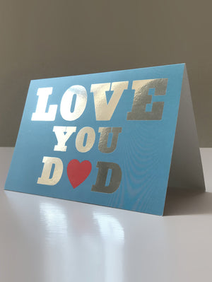 DANDY STAR LOVE YOU DAD CARD