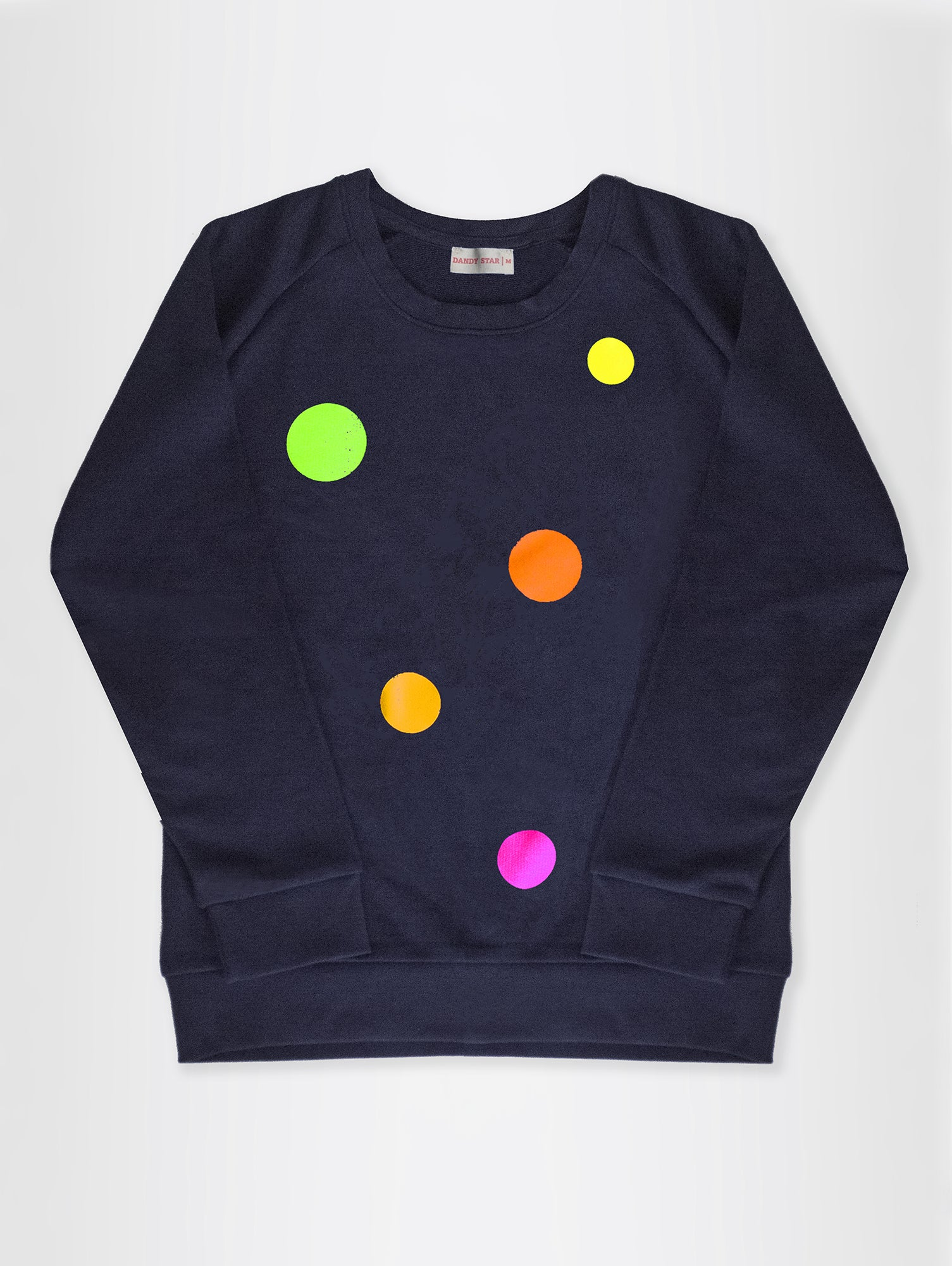 DANDY STAR NEO DOT SWEATSHIRT IN GREY MARL/NAVY FOR KIDS