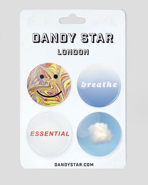 DANDY STAR BADGE SET  :  CLOUD