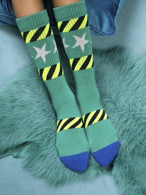 DANDY STAR FLUORO FLASH SPORT SOCK